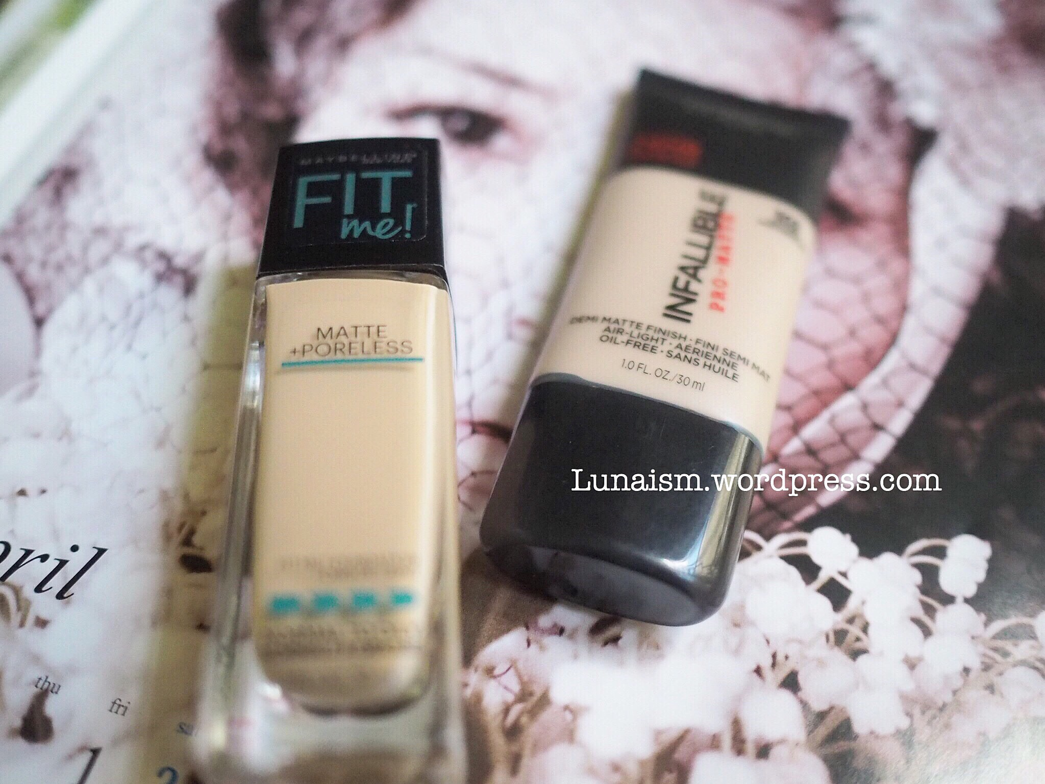 Review Loreal Infallible Pro Matte Vs Maybelline Fit Me Foundation 24hr