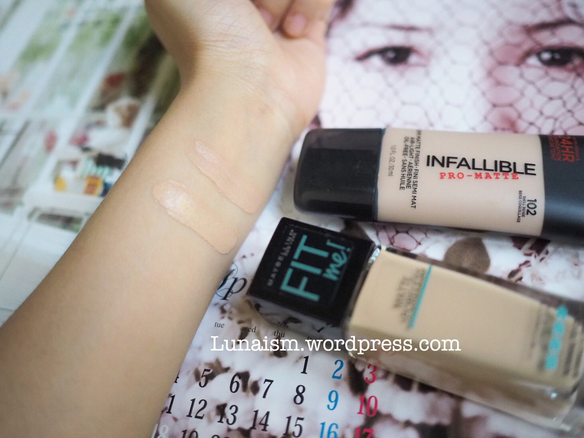 Review Loreal Infallible Pro Matte Vs Maybelline Fit Me Foundation 24hr For Of Course I Choose Really Like The Finish And Texture After Use It All Day Long